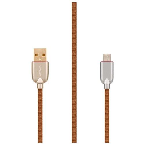 Кабель Rombica Digital USB - microUSB (AB-05) 1 м коричневый
