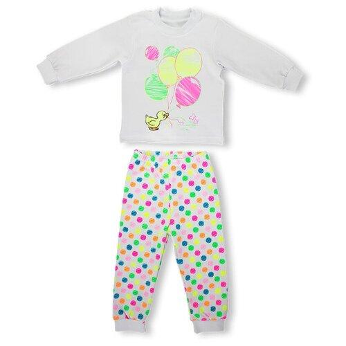 Купить Пижама LEO размер 116, белый/мультиколор, Домашняя одежда