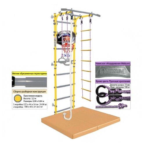 Купить Шведская стенка Midzumi Niji Kabe Basketball Shield c матом №4, лимонный пай (59174), Шведские стенки