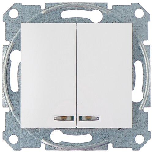 Выключатель 2х1-полюсный Schneider Electric SEDNA SDN0300321,10А, белый фото