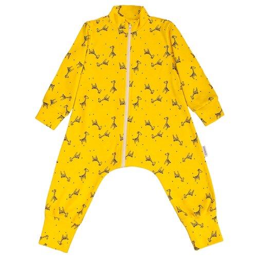 Комбинезон Bambinizon размер 56, жирафы желтый фото