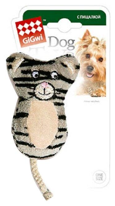 Игрушка для собак GiGwi Dog Toys Кот без набивки (75024)