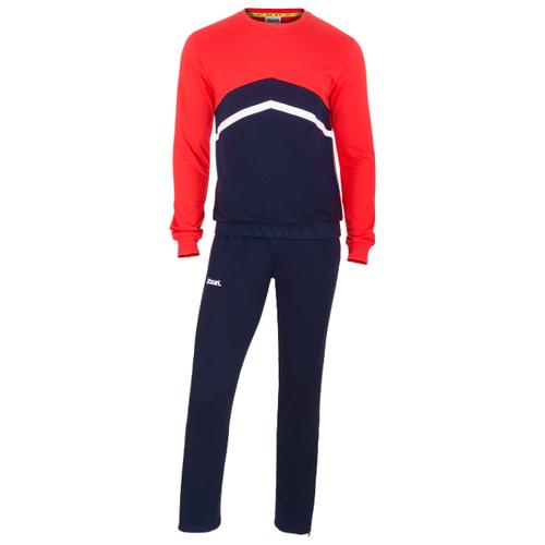 Тренировочный костюм Jogel Jcs-4201-921, хлопок, темно-синий/красный/белый (L)