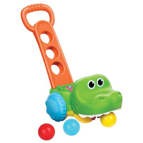 Купить Каталка-игрушка B kids Gator Scoot ' n ' Scoop (004703) оранжевый, Каталки и качалки