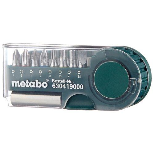 Набор бит Metabo 630419000, 9 предм., зеленый набор бит metabo 626711000 25 предм