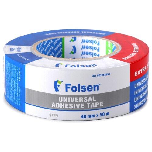 Клейкая лента универсальная Folsen 51064850, 48 мм x 50 м клейкая лента универсальная folsen 51044850 48 мм x 50 м