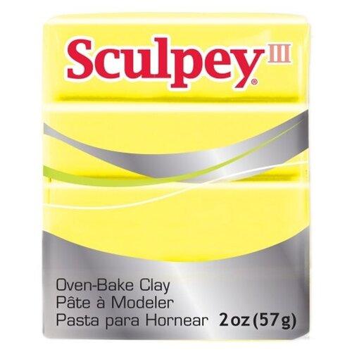 Купить Полимерная глина Sculpey III 1150 (лимонно-желтый), 57г, Глина