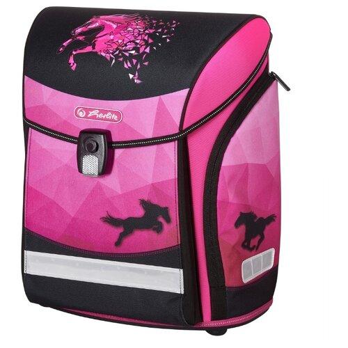 Herlitz Ранец New Midi Magic Horse, розовый/черный