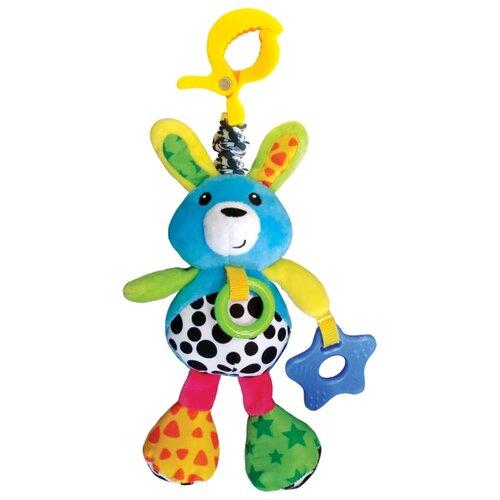 Подвесная игрушка Азбукварик Зайчонок Люленьки желтый/голубой фото