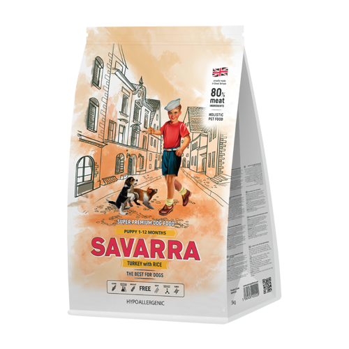 Фото - Сухой корм для щенков SAVARRA индейка, с рисом 3 кг сухой корм для щенков savarra индейка с рисом 3 кг