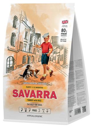 Корм для собак SAVARRA Puppy Индейка и рис