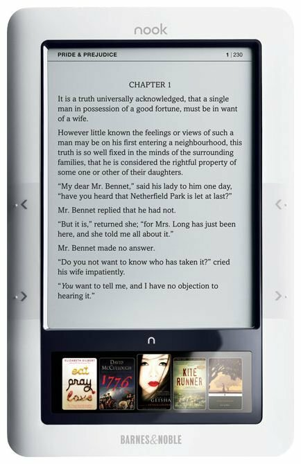 Электронная книга Barnes & Noble Nook Wi-Fi