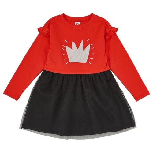 Платье Mini Maxi размер 116, черный/красный платье oodji ultra цвет красный белый 14001071 13 46148 4512s размер xs 42 170