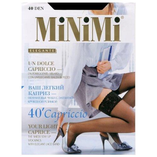 Чулки MiNiMi Capriccio 40 den caramello 4-L (MiNiMi)Колготки и чулки<br>