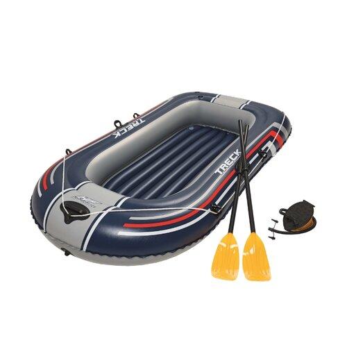 Надувная лодка Bestway 61083 черный/серый/красный