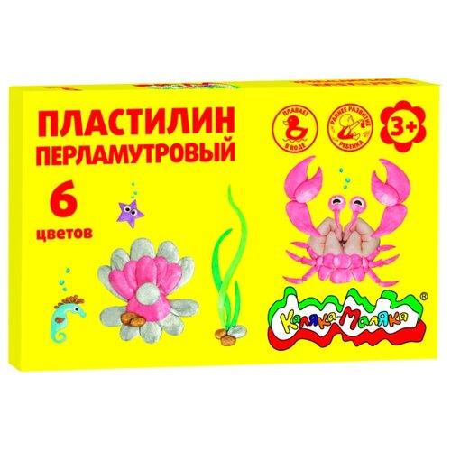 цена Пластилин Каляка-Маляка Плавающий перламутровый 6 цветов (ПКМП06) онлайн в 2017 году