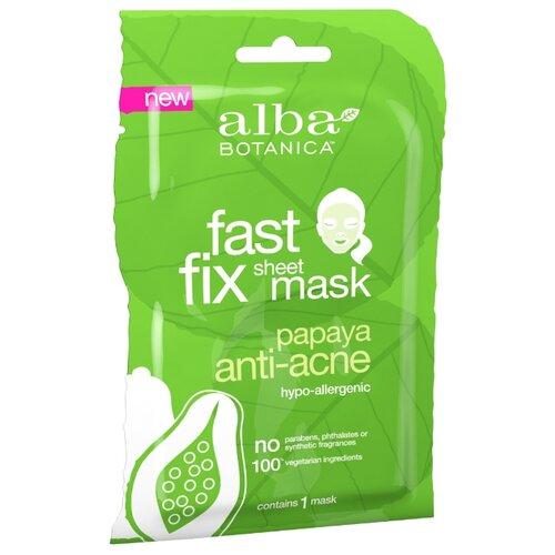 Alba Botanica Очищающая маска Fast Fix Sheet Mask Papaya Anti-acne очищающее средство alba botanica