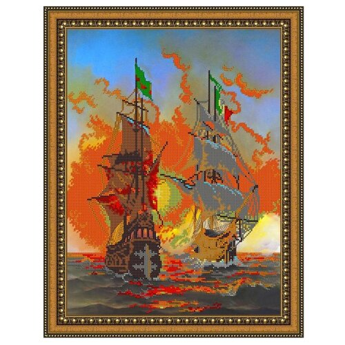 Светлица Набор для вышивания бисером Корабли 30 х 38 см (374)
