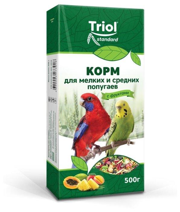Triol корм Standard с фруктами для мелких и средних попугаев