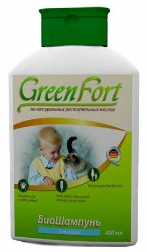 GreenFort БиоШампунь от блох для кошек