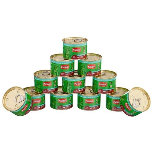 Корм для кошек Четвероногий Гурман (0.19 кг) 12 шт. Паштет с говядиной для кошекКорма для кошек<br>