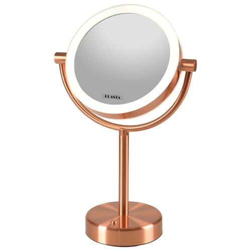 Зеркало косметическое настольное PLANTA PLM-1725 Copper с подсветкой медный никель