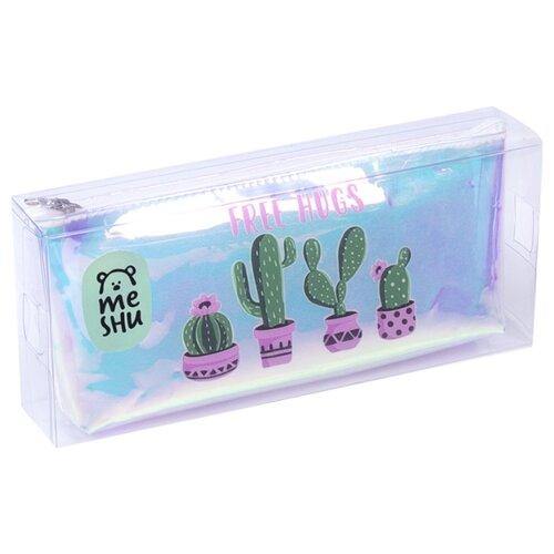 Купить MESHU Пенал Cactus (MH_31224) голубой, Пеналы
