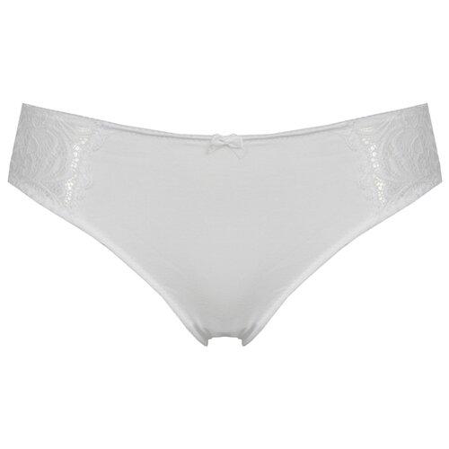 Alla Buone Трусы слипы с кружевной полосой по бокам спереди, размер 5(50), белый