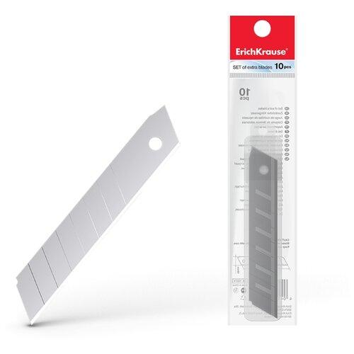 Купить ErichKrause Лезвия для канцелярского Standard 19274 18 мм (10 шт.) серебристый, Ножи канцелярские
