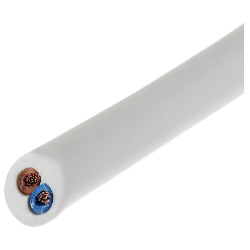 Провод ЗКС ПВС 2х2.5 (25 м) ГОСТ белыйКабели и провода<br>