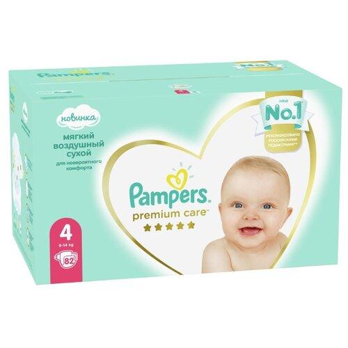 Купить Pampers подгузники Premium Care 4 (9-14 кг), 82 шт., Подгузники