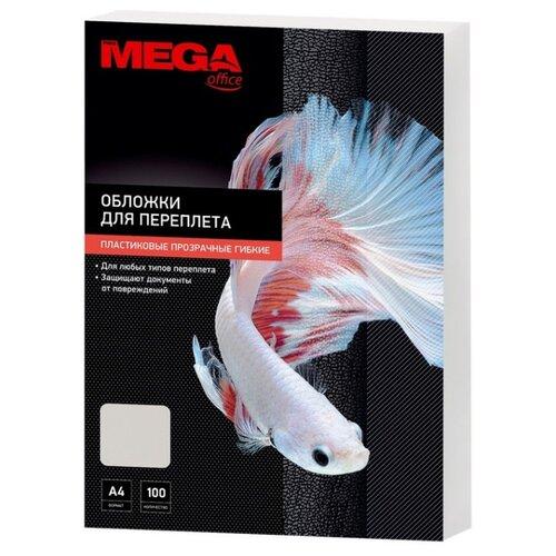 Обложки для переплета пластиковые Promega office прозрачный А4,150мкм, 100 штук в упаковке