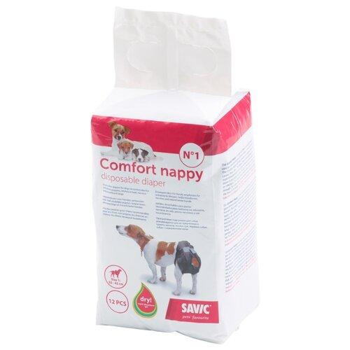 Подгузники для собак SAVIC Comfort Nappy Size 1 10х9х17 см 12 шт.