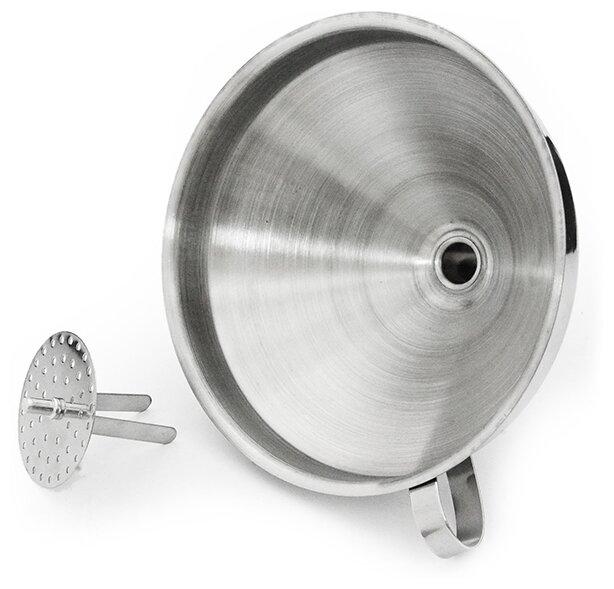 8687 FISSMAN Воронка 14 см со съемным фильтром (нерж. сталь)