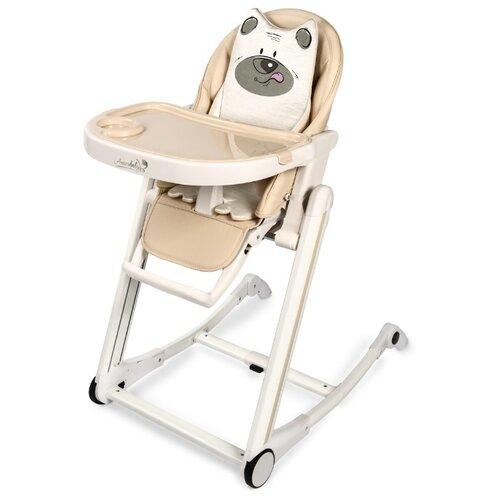 цена Стульчик для кормления Amarobaby Rocking Baby бежевый онлайн в 2017 году