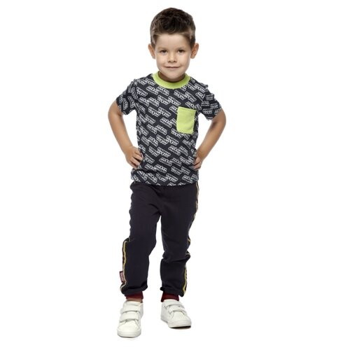 Купить Футболка lucky child размер 30 (110-116), серый, Футболки и майки