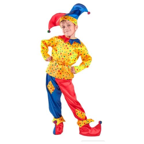 Фото - Костюм Батик Петрушка (7005), синий/красный/желтый, размер 128 костюм батик герцогиня 1903 красный белый размер 128