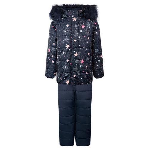 Купить Комплект с полукомбинезоном playToday 32022014 размер 116, темно-синий/разноцветный, Комплекты верхней одежды