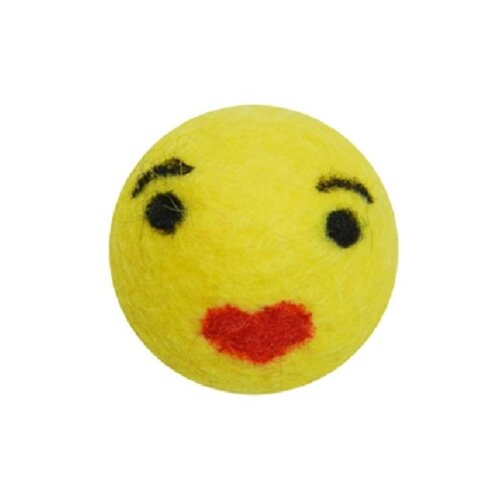 Мячик LIVEZOO Smile Поцелуй 4 см (1118) желтыйИгрушки для кошек и собак<br>