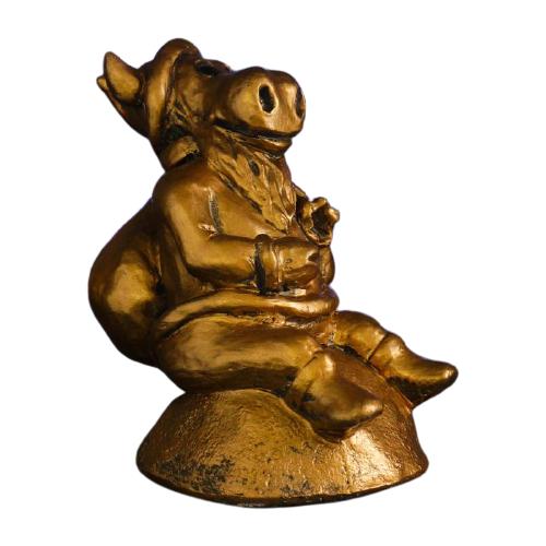 Копилка Хорошие сувениры Символ года: Бык Дед Мороз, гипс 20 х 13 х 18 см бронза