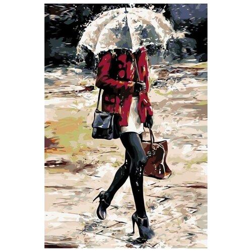 Купить Картина по номерам Живопись по Номерам Под зонтом , 40x60 см, Живопись по номерам, Картины по номерам и контурам