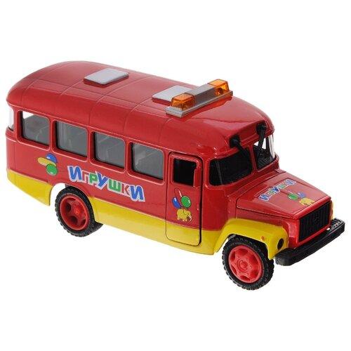 Купить Автобус ТЕХНОПАРК КАвЗ Игрушки (CT10-069-6) 1:43 красный, Машинки и техника