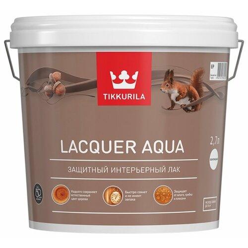 Лак Tikkurila Lacquer Aqua матовый полиакриловый бесцветный 2.7 л лак tikkurila kiva 30 полиакриловый бесцветный 0 9 л