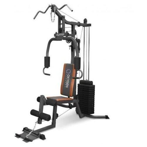 Многофункциональный тренажер Oxygen Fitness Hunter серый/оранжевый тренажер многофункциональный royal fitness bench 1520