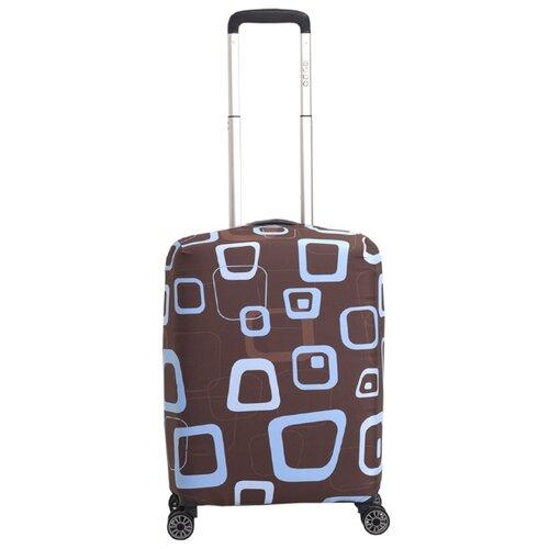 Чехол для чемодана METTLE Шипучка S, голубой/коричневыйЧемоданы<br>
