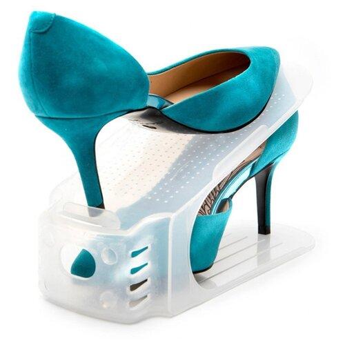 Обувница BRADEX Подставки для обуви 6 шт , цвет: прозрачный обувница мебелайн 6