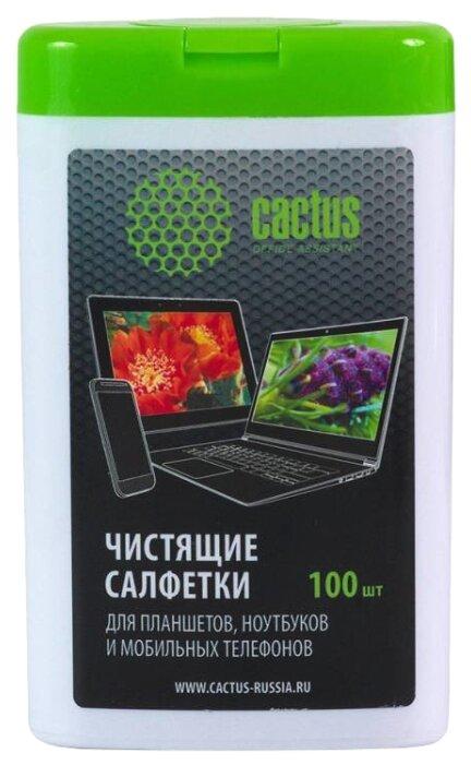 Салфетка для чистки Cactus CS-T1005 Мини туба с чистящими салфетками для планшетов, ноутбуков и моб.тел.,100 шт