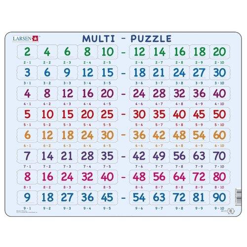 Купить Рамка-вкладыш Larsen Математика Умножение (AR17), 80 дет., Пазлы
