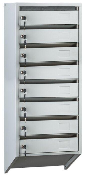 Почтовый ящик ПРОМЕТ PB-8C KL 1030х390 мм, серый
