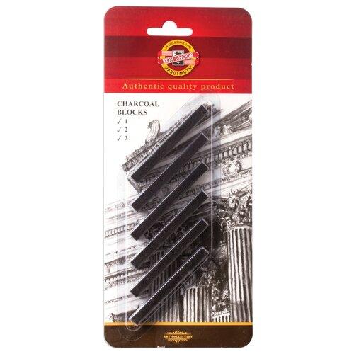 Купить KOH-I-NOOR Уголь прессованный, 6 шт, Пастель и мелки
